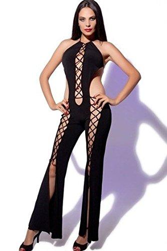 Sexy Gogo-Overall Jumpsuit Hosenanzug Einteiler Catsuit Kleid Hosenkleid Hose Leg Party