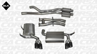 Corsa Performance 14567BLK Sport Cat-Back Exhaust System