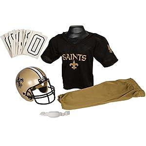 Franklin Sports NFL New Orleans Saints Youth Licensed Deluxe Uniform Set, Large