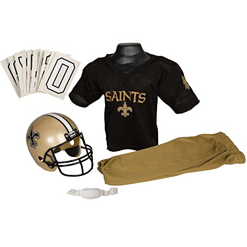 Franklin Sports NFL Team Licensed Youth Uniform Set - New Orleans Saints