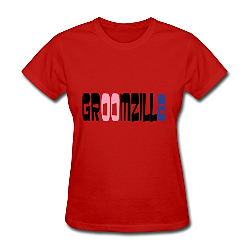 For Women Cotton Red Custom-made Unofficial Diatinguish Groomzilla T Shirt X-large