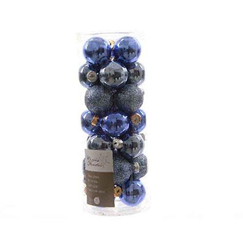 28 palle di Natale albero di Natale palline di Natale in vetro 30 mm diametro blu toni