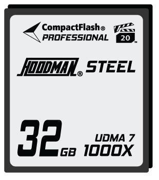 Hoodman RAW Steel Class 7 32GB CompactFlash Card, 1000x High Speed