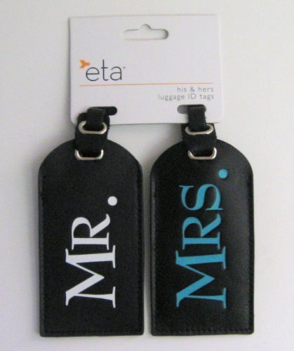 Leather Mr. and Mrs. Luggage ID Tags