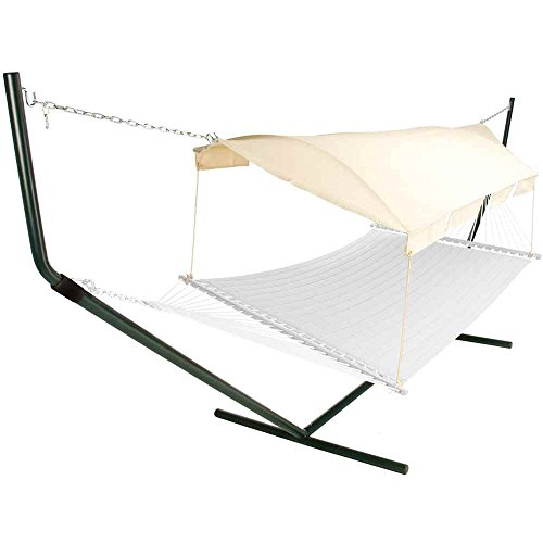 Pawley's Island CPY-3TX Hammock Canopy Forest Green Poles with Natural Canopy