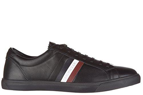 Moncler scarpe sneakers uomo in pelle nuove monaco nero EU 42 1017400 07903 998