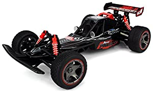 Velocity Toys Jet Panther RC Remote Control Off-Road Buggy 2.4 GHz Transmitter Control Big 1:10 Size 15+ MPH Ready To Run w/ Independent 4 Wheel Suspension & Spring Shocks (Colors May Vary)