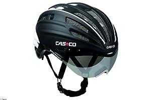 Casco Speedairo Fahrradhelm schwarz in Gr. M (54-59cm) inkl. Visier & Softbox