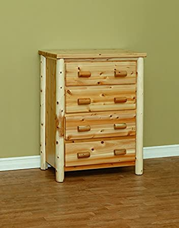 White Cedar Rustic 4 Drawer Chest *Provincial*