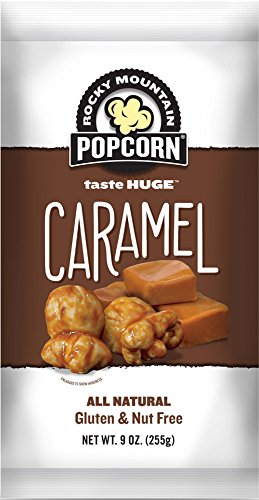 Rocky Mountain Popcorn, Caramel, 9 Ounce (Pack of 12)