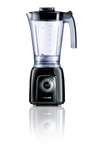 Philips HR2160 50 Blender with Pulse and Ice Crush  600 Watt  Black