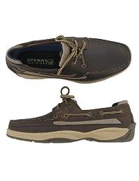 Sperry Top-Sider Men's Lanyard 2-Eye Dark Brown Shoes - 0771998