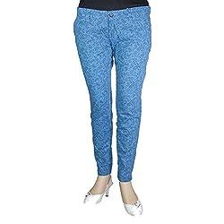Anjan Women Slim Fit Trousers_ANJ3136J1_Blue_34