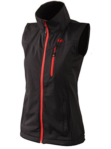 Ultrasport Athina Softshell Weste Gilet per Donna, Black/Red, M