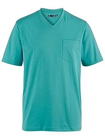 Yoursclothing mens mint green v neck t shirt for Men s v neck pocket tee shirts