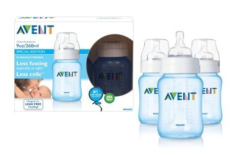Philips AVENT® 942 SCF685/37 BPA Free 9-Ounce Feeding Bottle, Blue (Philips AVENT 942 SCF685/37 BPA FREE 9oz (PP) BL)