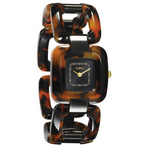 Nixon A248-1679 Ladies Sisi Black Tortoise Watch