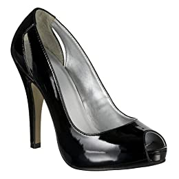 Product Image Women's Mossimo® Black Vida Peep-Toe Pumps - Black Patent