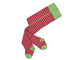 Grödo (Groedo) Organic Cotton Baby Infant Tights Made in Germany (Green/grey/red, 6-9 Months)