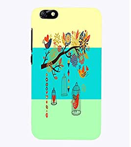 PrintVisa Corporate Print & Pattern Bird Cage 3D Hard Polycarbonate Designer Back Case Cover for Huawei Honor 4X