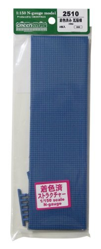n-gauge-2510-pre-stained-tile-roof-blue-2-pieces-japan-import-by-green-max