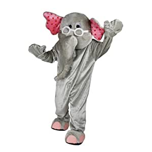 Cartoon Elephant Mascot (Deluxe) - Adult Costume Adult - One Size