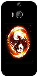 Snoogg Dragon Fury Designer Protective Back Case Cover For Htc One M8