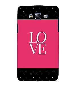 Love Pink Black Dots 3D Hard Polycarbonate Designer Back Case Cover for Samsung Galaxy J5 (2015) :: Samsung Galaxy J5 J500F (Old Version)