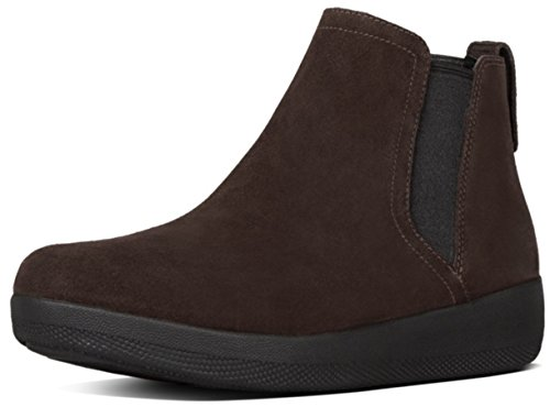 FitFlopTM SuperChelseaTM Boot, Casual Ankle Boots in Black or Chocolate Leather 8 Chocolate