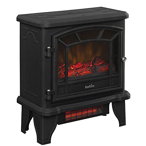 Duraflame DFI-550-22 Infrared Electric Stove Heater Old Fashioned Black 5,200 BTUs by Duraflame (Infrared Quartz Stove Fireplace compare prices)