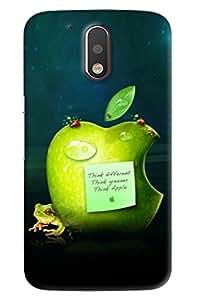 Clarks Apple Inpsired Hard Plastic Printed Back Cover/Case For Motorola Moto G4