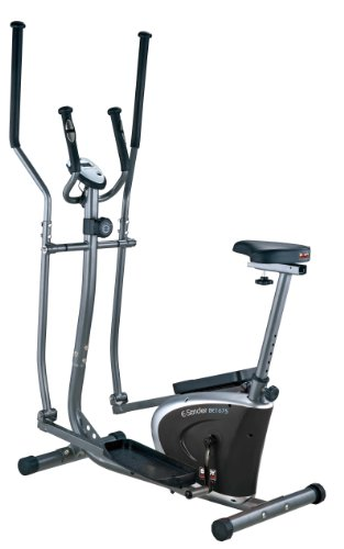 Body Sculpture BE6175 2-in-1 Magnetic Elliptical and Bike - Grey/Black/Silver