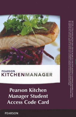Pearson Kitchen Manager -- Access Code Card