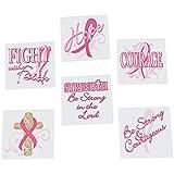 Inspirational Breast Cancer Awareness Tattoos (6 Dozen) - BULK