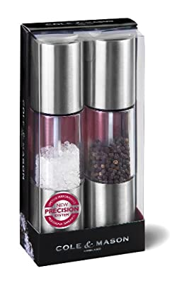 Cole & Mason Precision Oslo 185 mm Acrylic Mill Gift Set with Stainless Steel from Dkb Household Uk Ltd