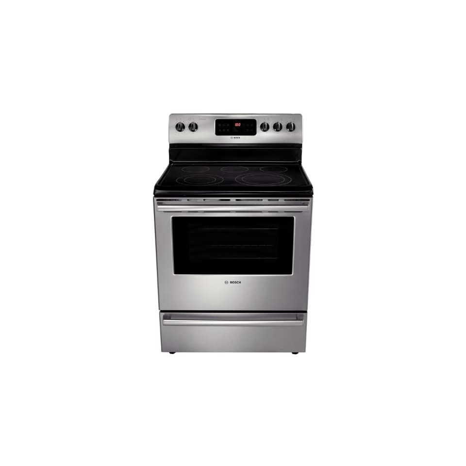 Bosch HES5053U 500 30 Stainless Steel Electric Smoothtop Range   Convection