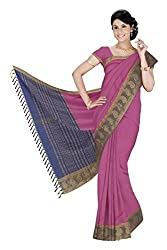 Srinidhi Silks Pink Silk Sari (Ssi 2016 31 A)