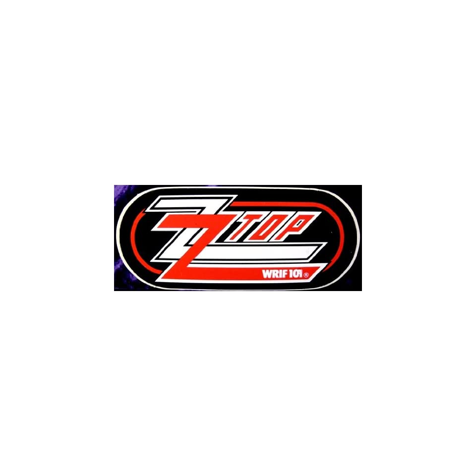 WRIF FM Detroit ZZ Top Bumper Sticker Red & White on Black