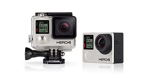 Gopro Hero 4 Camera: Black Edition Plus Lcd Touch Bacpac Plus Aftermarket Battery Plus Dual Usb Battery Charger - Combo Package