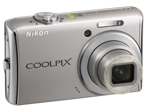 Nikon Coolpix S620 Digital Camera - Bright Silver (12.0MP, 4x Optical Zoom) 2.7 inch LCD