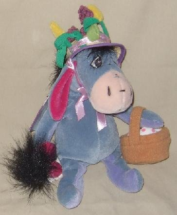 "Disney Store Plush Easter Bonnet Eeyore 9"" - 1"
