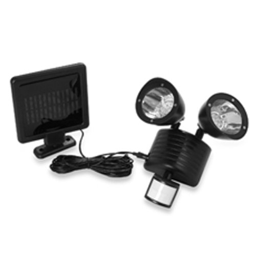 22 Led Outdoor Solar Powered Floodlight Motion Sensor Security Light Black Color Body + Duracell Aaa Batteries X4 For Free (Batteries Are Brand New But Loose From Bulk Package Expired In 2019)