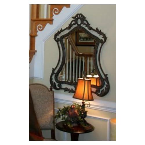 Extra Large BAROQUE IRON Wall Mirror Mantle Vanity Luxury Antique Bronze