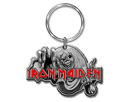 Iron Maiden - Number of the Beast - Portachiavi in metallo - SPEDIZIONE GRATUITA