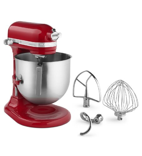 Kitchenaid Commercial 8-qt Bowl Lift NSF Stand Mixer Ksm8990er 1.3-hp Motor Red Gift for Your Family