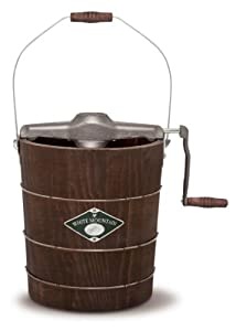 White Mountain PBWMIMH412-SHP Appalachian Series Wooden Bucket 4-Quart Hand Cranked Ice Cream Maker