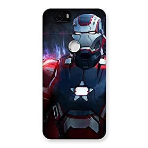 Delighted Bluish Redish Man Back Case Cover for Google Nexus-6P