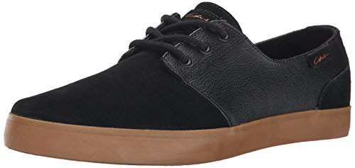 C1RCA Men's Crip Skateboard Shoe, Black/Black/Gum, 11.5 M US