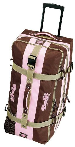 Bogi Bag Trolley Reisetasche in braun/rosa 82cm
