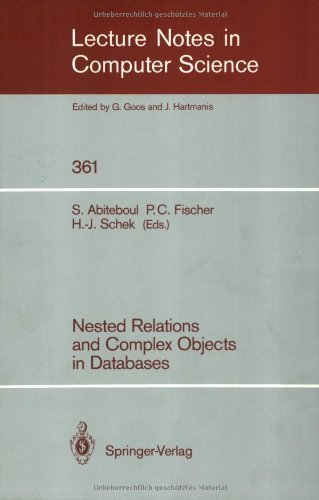 Nested Relations and Complex Objects in Databases (Lecture Notes in Computer Science)